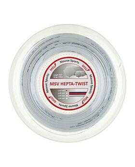 Bobine Cordage Tennis MSV Hepta Twist 200m 1,15mm blanc