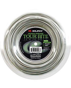 Bobine Cordage Tennis Solinco Tour Bite Soft jauge 1,20mm 200m argenté