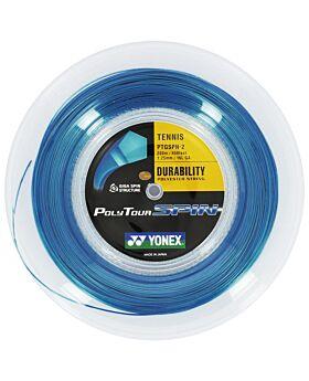 Bobine Cordage Tennis Yonex PolyTour Spin jauge 1,25mm 12m bleu
