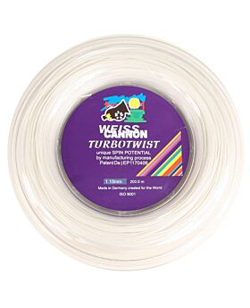Bobine Cordage Weiss Cannon Turbo Twist 200m 1,18mm blanc