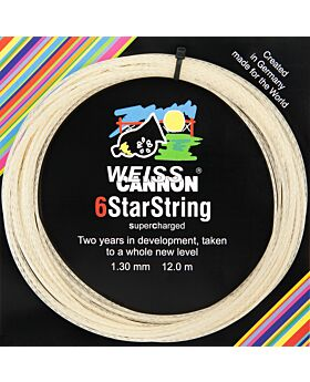 Cordage WeissCannon 6 Star String Supercharged jauge 1,30mm 12m naturel
