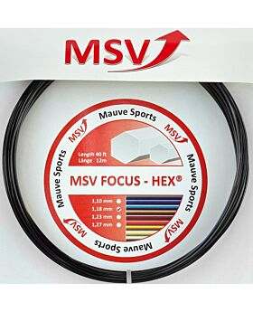Cordage MSV Focus Hex jauge 1,18mm 12m noir