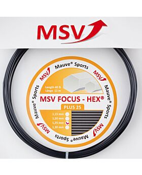 Cordage MSV Focus Hex Plus 25 jauge 1,25mm 12m noir