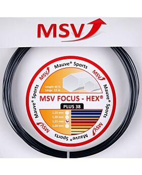 Cordage MSV Focus Hex Plus 25 jauge 1,25mm 12m noir