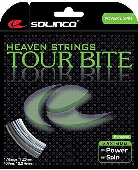 Cordage Tennis Solinco Tour Bite jauge 1,20mm 12m argenté