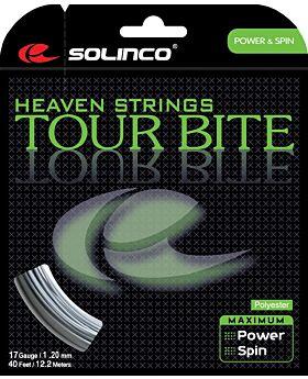 Cordage Tennis Solinco Tour Bite jauge 1,20mm 12m argenté