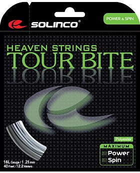 Cordage Tennis Solinco Tour Bite jauge 1,25mm 12m argenté