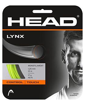Cordage Tennis Head Lynx jauge 1,25mm 12m jaune fluo