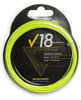Cordage Tennis Isospeed V18 jauge 1,12mm 12m jaune fluo