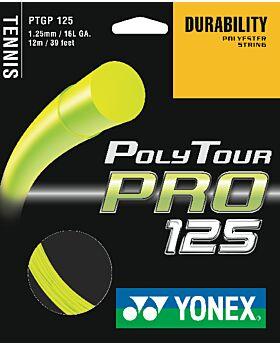 Cordage Tennis Yonex Poly Tour Pro jauge 1,25mm 12m jaune
