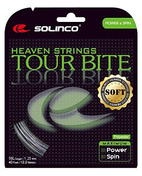 Cordage Tennis Solinco Tour Bite Soft jauge 1,25mm 12m argenté