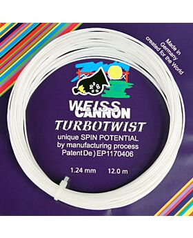 Cordage Weiss Cannon Turbo Twist jauge 1,18mm 12m blanc