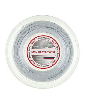 Bobine Cordage Tennis MSV Hepta Twist 200m 1,20mm blanc