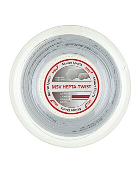 Bobine Cordage tennis MSV Hepta Twist 200m 1,30mm blanc