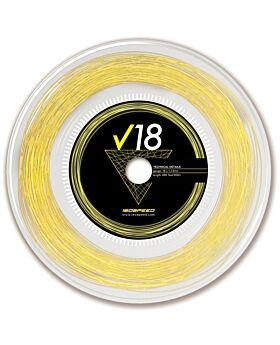 Bobine Cordage Tennis Isospeed V18 jauge 1,12mm 12m jaune fluo