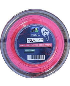 Bobine Cordage Tennis WeissCannon Red Ghost jauge 1,18mm 200m rose fluo