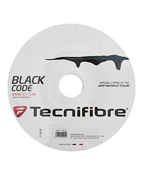 Bobine Cordage Tennis Tecnifibre Black Code jauge 1,24mm 12m noir
