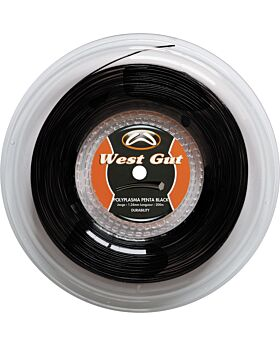 Bobine Cordage Tennis West Gut MT18 Poly Penta Plasma jauge 1,24mm 200m noir