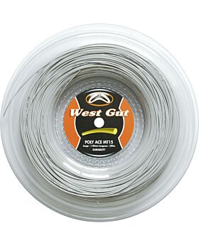 Bobine Cordage Tennis West Gut MT15 Poly Ace jauge 1,30mm 200m gris