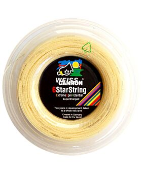 Bobine Cordage WeissCannon 6 Star String Supercharged 200m 1,30mm naturel