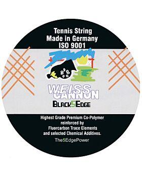 Cordage WeissCannon Black 5 edge jauge 1,24mm 12m noir