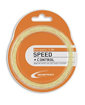 Cordage Tennis Isospeed Energetic jauge 1,30mm 12m doré