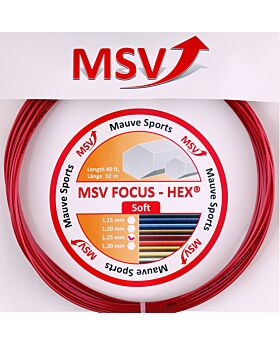 Cordage MSV Focus Hex Soft jauge 1,25mm 12m rouge