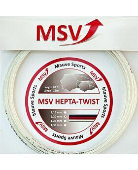 Cordage Hepta Twist MSV jauge 1,20mm 12m blanc