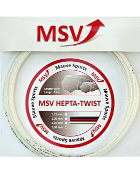 Cordage Hepta Twist MSV jauge 1,30mm 12m blanc