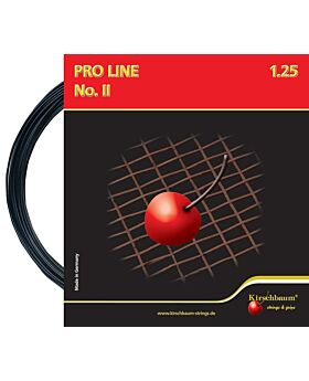 Cordage Pro Line 2 Kirschbaum jauge 1,25mm 12m noir