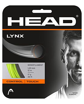 Cordage Tennis Head Lynx jauge 1,20mm 12m jaune fluo