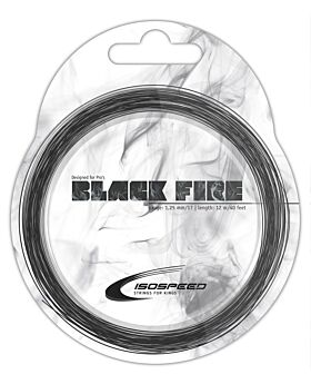Cordage Tennis Isospeed Black Fire jauge 1,25mm 12m noir