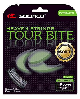 Cordage Tennis Solinco Tour Bite Soft jauge 1,20mm 12m argenté