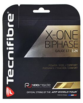 Cordage Tennis Tecnifibre X-One biphase jauge 1,24mm 12m naturel