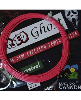 Cordage Tennis WeissCannon Red Ghost jauge 1,18mm 12m rose fluo