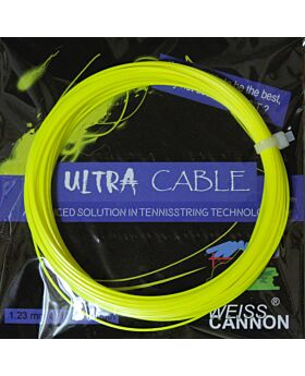 Cordage Tennis WeissCannon Ultra Cable jauge 1,23mm 12m jaune fluo