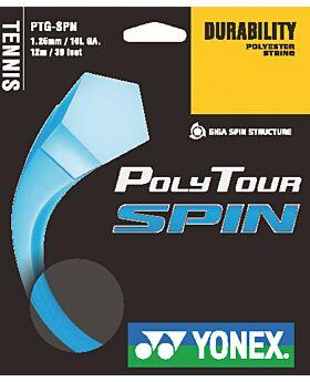 Cordage Tennis Yonex PolyTour Spin jauge 1,25mm 12m bleu
