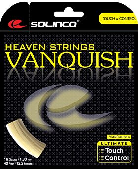 Cordage Tennis Solinco Vanquish jauge 1,30mm 12m naturel