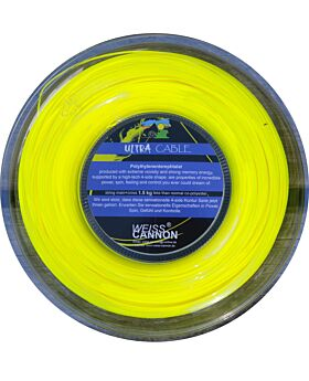 Bobine Cordage Tennis WeissCannon Ultra Cable jauge 1,23mm 200m jaune fluo